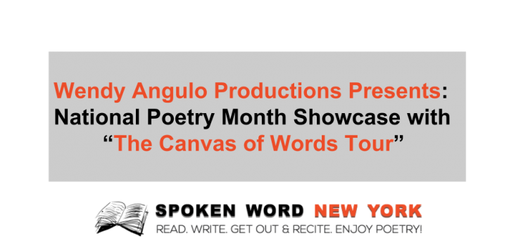 "Celebrate Poetry at the National Poetry Month Showcase with ""The Canvas of Words Tour"""