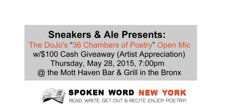 "Sneakers & Ale Presents: ""The DoJo's 36 Chambers of Poetry"" Open Mic"