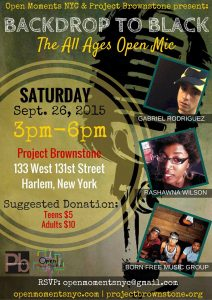 All Ages Open Mic Sept 26th Flyer