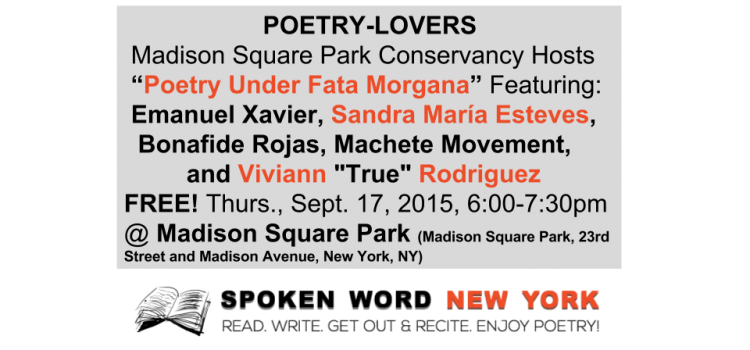 Madison Square Park Conservancy Hosts Poetry Under Fata Morgana with NYC's Hottest Poets