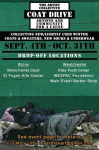 The Artist Collective 2015 Coat Drive Flyer 2
