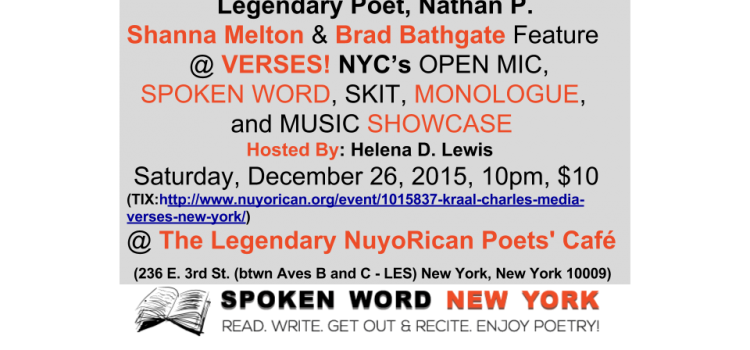 Legendary Poet, Nathan P. Features for VERSES! @ The Legendary NuyoRican Poets' Café