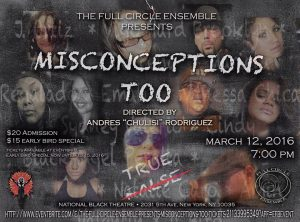 Misconceptions, Too @ National Black Theatre 3/12