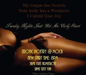 Moca Lounge Erottic Poetry Open Mic Ad