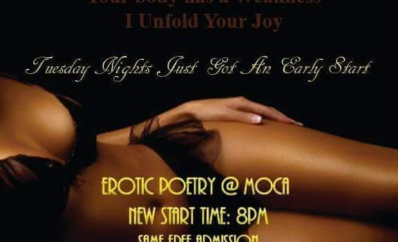 Tuesday Erotic Poetry Open Mic @ MOCA Bar & Lounge