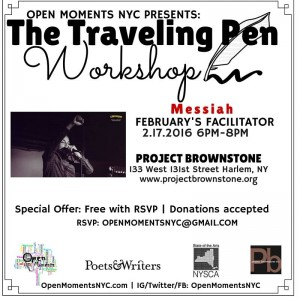 Traveling Pen Wkshp Feb 17, 2016 Flyer