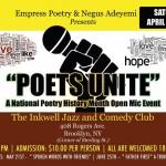 Spoken Word with Friends Poets Unite April 23, 16 Flyer