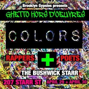 Ghetto Horsdoeuvres Brooklyn Gypsies April 30, 16 Flyer