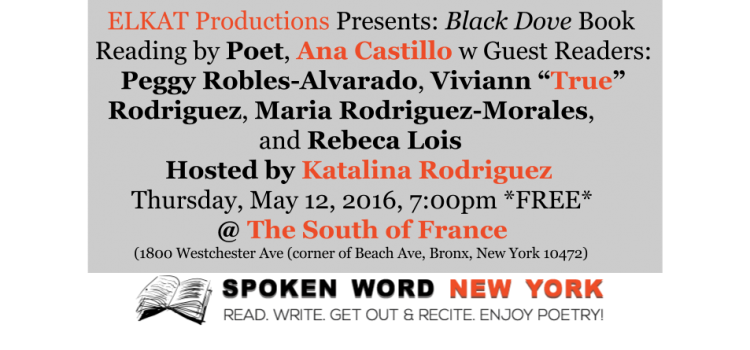 ELKAT Productions Presents: Black Dove Book Reading by Ana Castillo @ The South of France