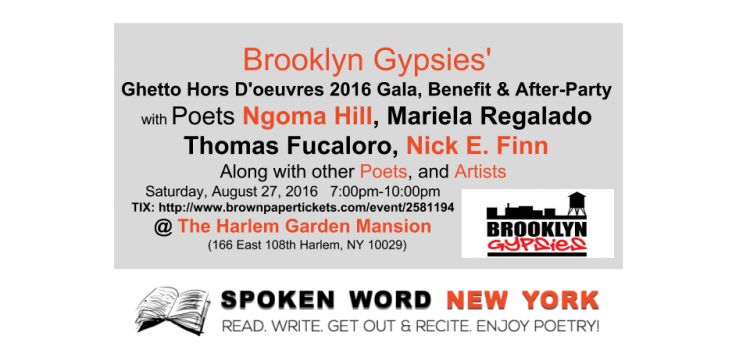 Brooklyn Gypsies' Ghetto Hors D'oeuvres 2016 Gala, Benefit, and After-Party @ The Harlem Garden Mansion