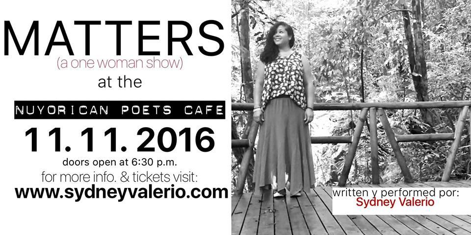 sydney-valerio-matters-11-11-16-flyer