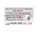 Free Bronx Open Mic: The DOJO – 36 Chambers of Word @ The South of France