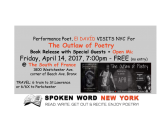 Poet El DAVÍD Returns To NYC For The Outlaw of Poetry Book Release @ The South of France