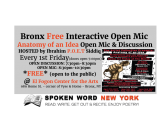 Anatomy of an Idea – Bronx Free Interactive Open Mic @ El Fogon Center for the Arts