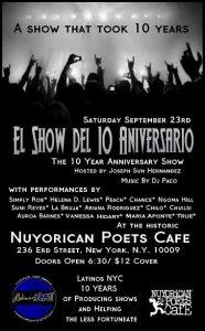 LatinosNYC Sept 23, 17 flyer (10th anniversary)