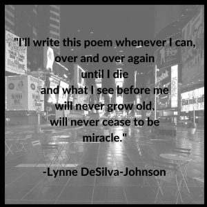 Poets Settlement Lynne DeSilva-Johnson quote