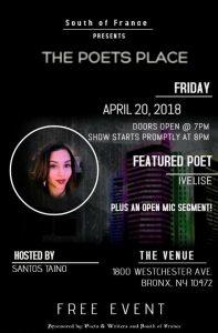 Poets Place April 20, 18 flyer