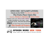 Free Bronx Open Mic: The Poets Place Open Mic @ The South of France