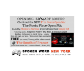 Bronx Free Open Mic: The Poets Place Open Mic @ The South of France