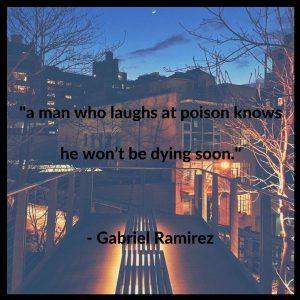 Poets Settlement Gabriel Ramirez quote (twitter)