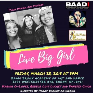 Live Big Girl March 23, 18 flyer