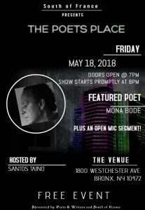 Poets Place May 18, 18 flyer