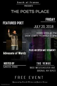 Poets Place July 20, 18 flyer