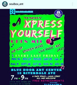 Xpress Yourself Open Mic 2018 flyer