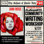 La Sopa NYC Community Writing Workshops At Nuyorican Poets Cafe