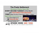 The Poets Settlement Brooklyn Poetry Open Mic Series Now @ Halyards Bar