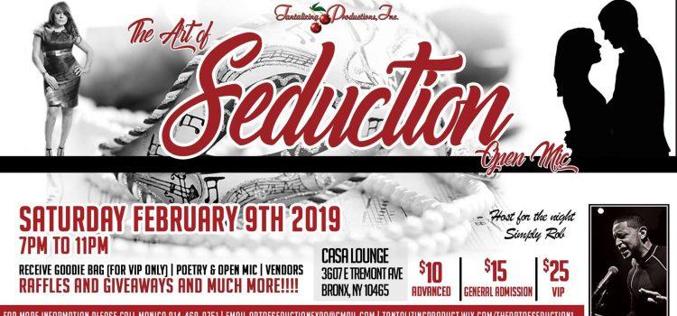 The Art of Seduction Masquerade & Erotic Open Mic – Sat., Feb. 9, 2019, 7:00pm @ Casa Lounge