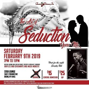 The Art of Seduction Feb 9, 19 flyer 2