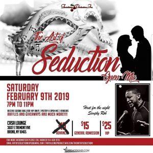The Art of Seduction Feb 9, 19 flyer 2