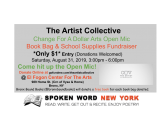 Change For A Dollar Arts Open Mic – Book Bag & School Supplies Drive @ Bronx El Fogon