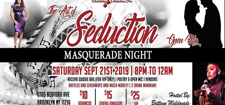 Fall 2019 The Art of Seduction Masquerade Party – Sept. 21, 2019 @ Inkwell Bedford