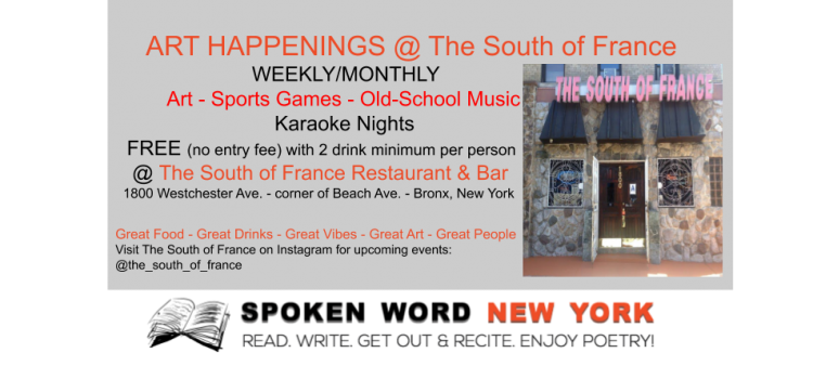 Weekly Art, Karaoke, Game Nights & More at The South of France Restaurant & Bar – Bronx