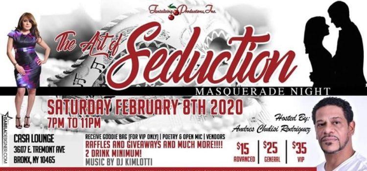 "Pre-Valentine's Day: ""The Art of Seduction"" 2020 Masquerade Party – Feb. 8, 2020 @ Casa Lounge"